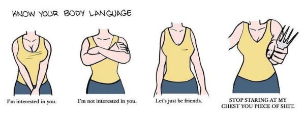 women body language: